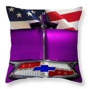 1954 Chevrolet Hood Emblem Throw Pillow