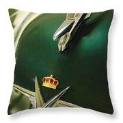 1954 Chrysler Imperial Sedan Hood Ornament Throw Pillow