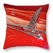 1954 Ford Cresline Sunliner Hood Ornament 2 Throw Pillow