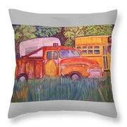 1954 Gmc Wrecker Truck Throw Pillow