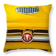 1954 Hudson Grille Emblem Throw Pillow
