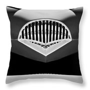 1954 Kaiser Darrin Grille Black And White Throw Pillow