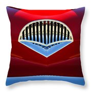 1954 Kaiser Darrin Grille Throw Pillow