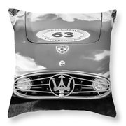 1954 Maserati A6 Gcs -0255bw Throw Pillow