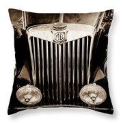 1954 Mg Tf Grille Emblem -0165s Throw Pillow
