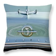 1954 Oldsmobile Super 88 Hood Ornament 3 Throw Pillow