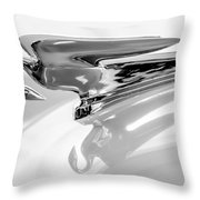 1954 Packard Cavalier Hood Ornament 3 Throw Pillow