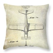 1955  Airplane Patent Drawing 2 Throw Pillow