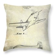 1955  Airplane Patent Drawing Throw Pillow