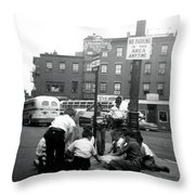 1955 Boys Of The North End Boston Throw Pillow