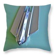 1955 Cadillac Fleetwood Sedan Hood Ornament Throw Pillow