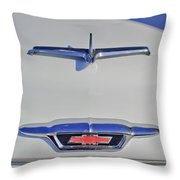 1955 Chevrolet 3100 Hood Ornament Throw Pillow