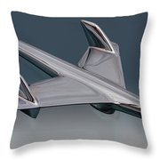 1955 Chevrolet Hood Ornament Throw Pillow