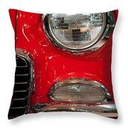 1955 Chevy Bel Air Headlight Throw Pillow by Sebastian Musial