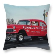 1955 Chevy Gasser Throw Pillow