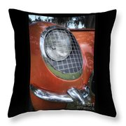 1955 Corvette Headlight Detail Throw Pillow