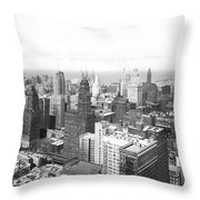 1955 Downtown Chicago Throw Pillow