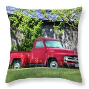 1955 Ford F100 Truck Throw Pillow