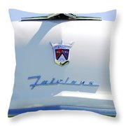 1955 Ford Fairland Hood Ornament Throw Pillow