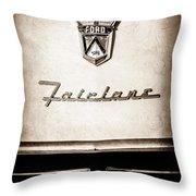 1955 Ford Fairlane Crown Victoria Emblem -1713s Throw Pillow
