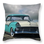 1955 Ford Fairlane Victoria Throw Pillow
