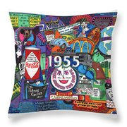 1955 In Review Throw Pillow by David Sutter