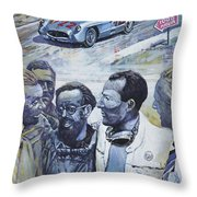 1955 Mercedes Benz 300 Slr Moss Jenkinson Winner Mille Miglia  Throw Pillow