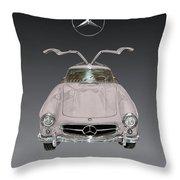 1955 Mercedes Benz Gull Wing 300 S L  Throw Pillow