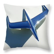 1956 Mercury Hood Ornament 1 Throw Pillow