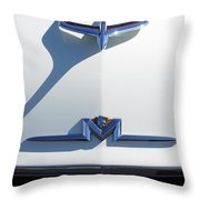 1956 Mercury Hood Ornament Throw Pillow