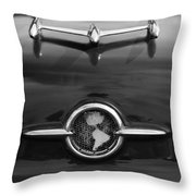 1955 Oldsmobile Holiday 88 Hood Ornament 2 Throw Pillow