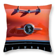 1955 Oldsmobile Rocket 88 Hood Ornament Throw Pillow