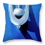 1955 Packard Clipper Hood Ornament 4 Throw Pillow