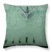 1955 Packard Hood Ornament 2 Throw Pillow
