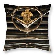 1955 Packard Hood Ornament Emblem Throw Pillow