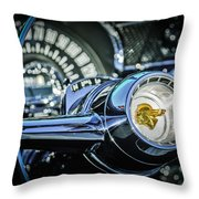 1955 Pontiac Star Chief Steering Wheel Emblem -0103c Throw Pillow