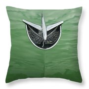 1956 Buick Hood Ornament Throw Pillow