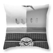 1956 Buick Special Hood Ornament - Emblem -0538bw Throw Pillow