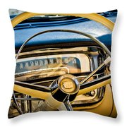 1956 Cadillac Steering Wheel Throw Pillow