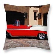 1956 Chevrolet Belair Convertible Throw Pillow