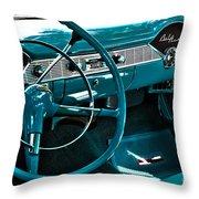 1956 Chevrolet Belair Interior Hdr No 1 Throw Pillow