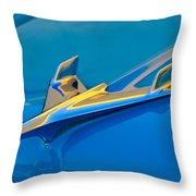 1956 Chevrolet Hood Ornament 2 Throw Pillow