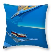 1956 Chevrolet Hood Ornament 4 Throw Pillow