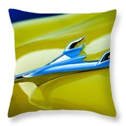 1956 Chevrolet Hood Ornament Throw Pillow
