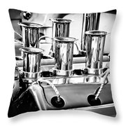 1956 Chrysler Hot Rod Engine Throw Pillow