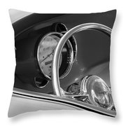 1956 Chrysler Hot Rod Steering Wheel Throw Pillow by Jill Reger