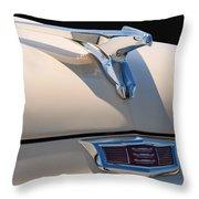 1956 Chrysler Soaring Falcon Hood Ornament Throw Pillow