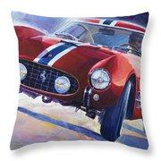 1956 Ferrari 250 Gt Berlinetta Tour De France Throw Pillow