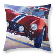 1956 Ferrari 250 Gt Berlinetta Tour De France Throw Pillow