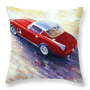 1956 Ferrari 410 Superamerica Scaglietti Series Throw Pillow